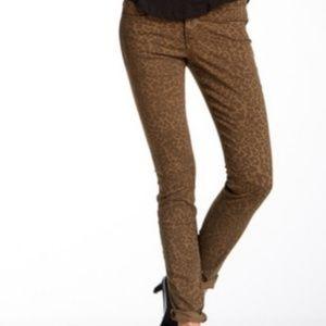 $198~Joe's Jeans~Chelsea SKINNY Jeans~Teak Leopard